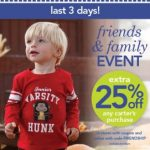 Carter's Friends and Family Event~3 more days!