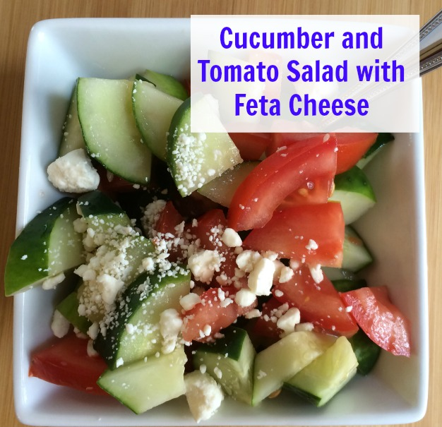 Cucumber and Tomato Salad with Feta Cheese