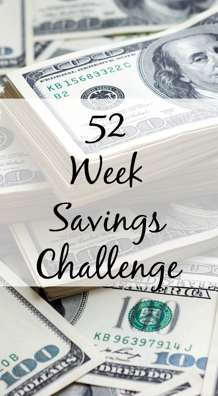52 Weeks Savings Challenge, great way to save money in the New Year. Savings challenge printable that can help you save $1000 in a year. A good savings plan is crucial to your family budget.