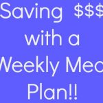 Thrifty Thursday–Saving Money with a Weekly Meal Plan