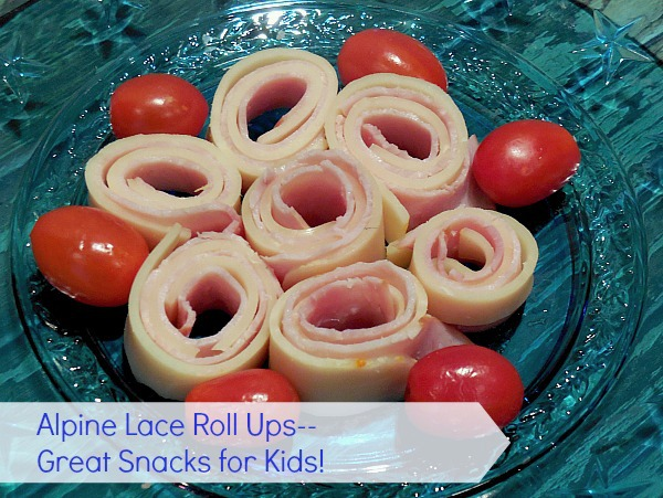 Alpine Lace Roll ups--Great Snacks for Kids