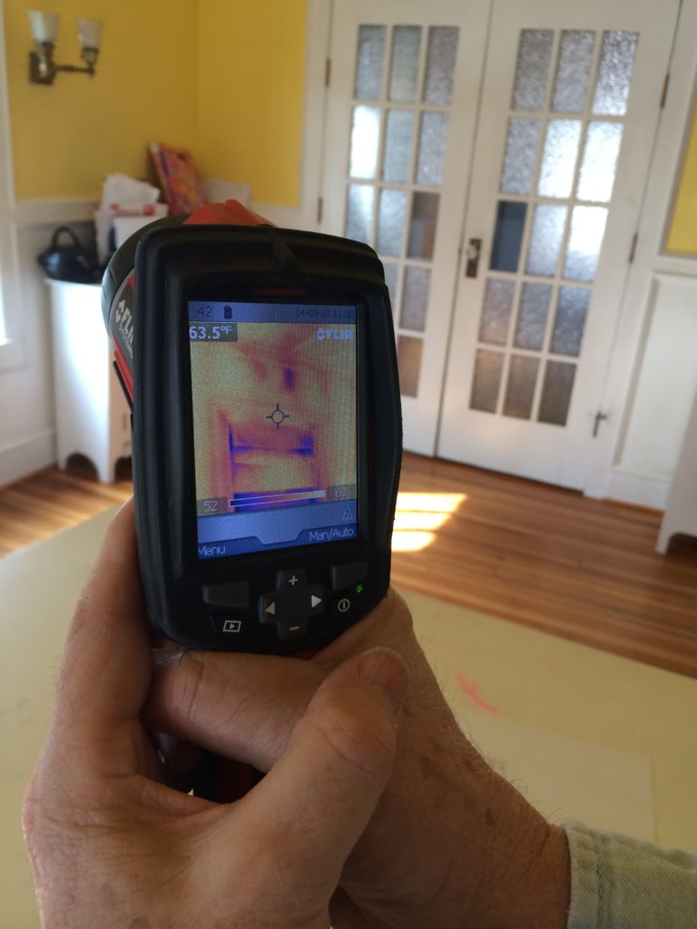 Infared scan of heat loss from Energy Audit #ProjectEnvolve