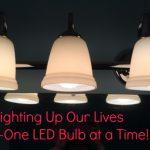 Lighting Up My Life with LED Power! #LEDSavings