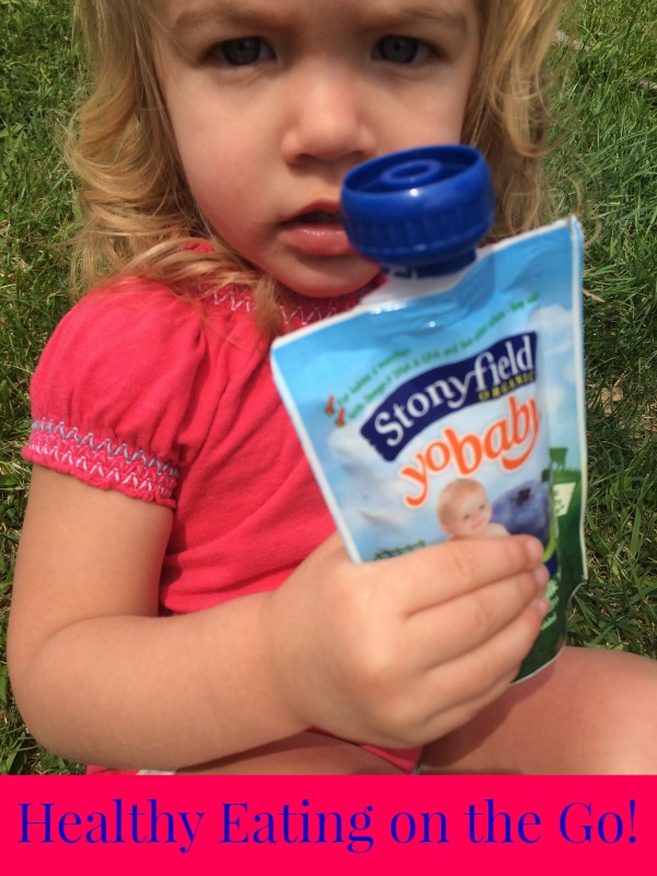 Healthy Eating on the Go with Stonyfield Yogurt Pouches!