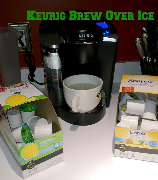 Keurig Brew Over Ice gives you Ice Teas, Vitamin Water and Iced Coffee in less than 60 seconds, all in the comfort of your own home!
