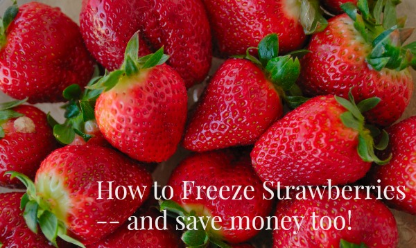 How to Freeze Strawberries to use all year long!