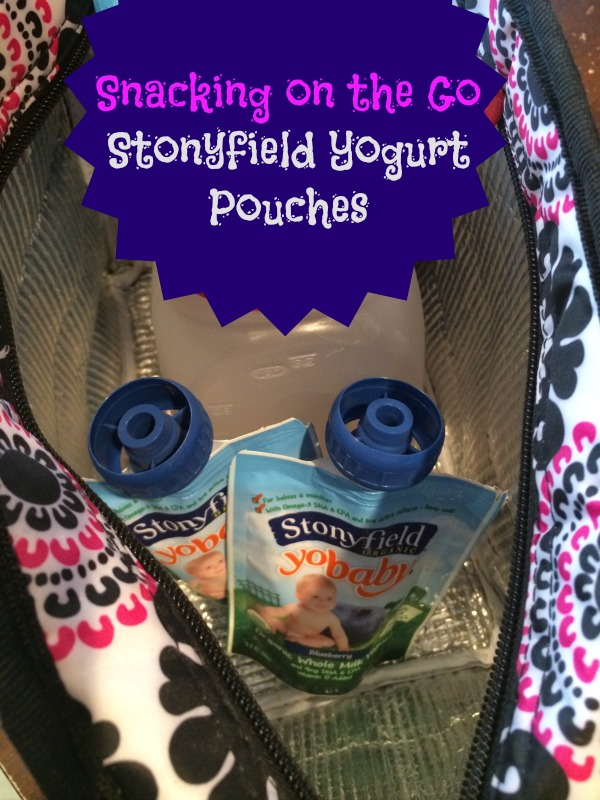 Snacking on the Go with Stoneyfield Yogurt Pouches