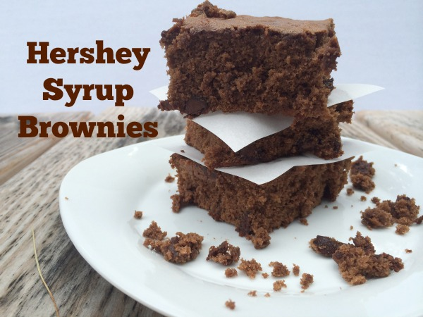 Brownies made with Hershey Syrup