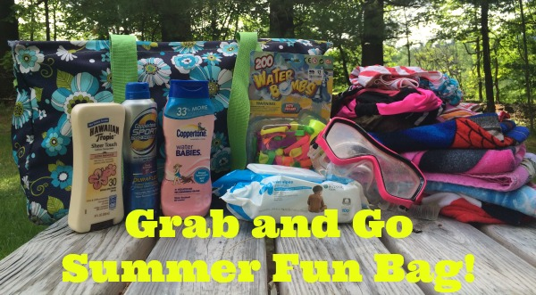 Grab and Go Summer Fun Bag--be ready to go at a moments notice when a friend calls you to go swimming!