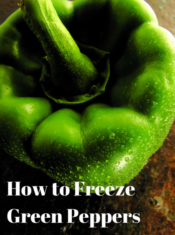 How to Freeze Green Peppers is a great resource that will save you time and money when you get a great deal on peppers at the store or when summer rolls around and peppers are plentiful at the Farmer's Market.