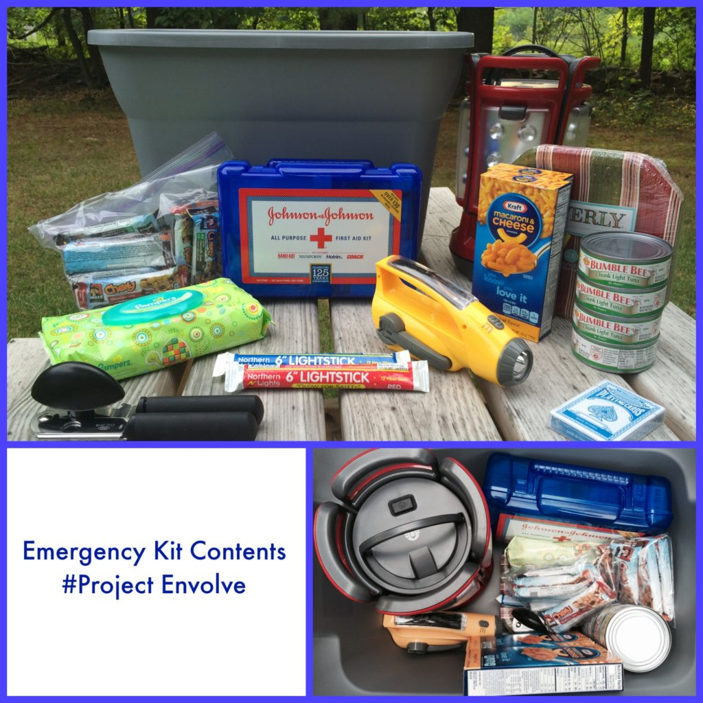 Emergency Kit Contents #ProjectEnvolve