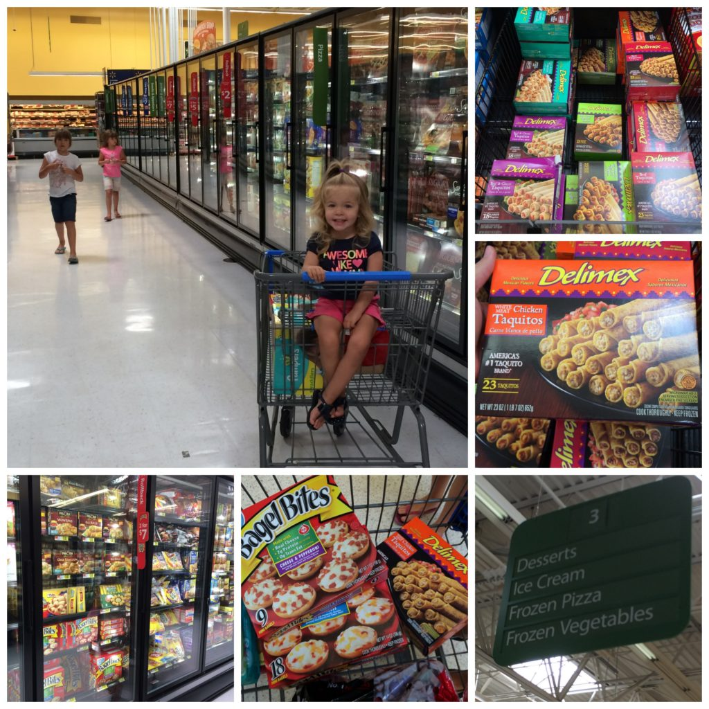 Shopping at Walmart for Bagel Bites and Delimex #Shop #cbias