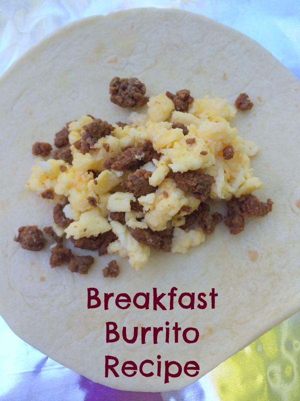 Breakfast Burrito recipe--great way to use up leftovers