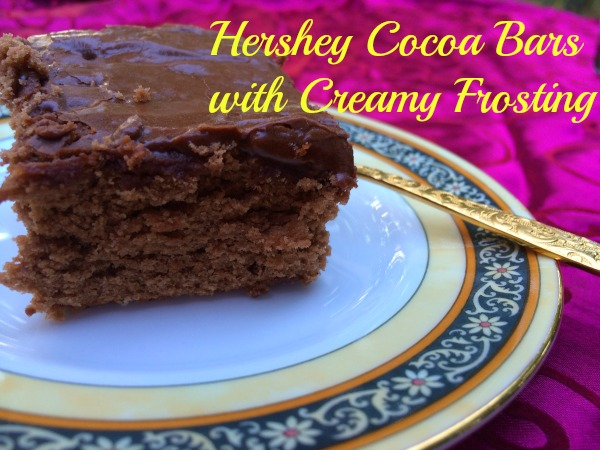 Hershey Cocoa Bars with Creamy Frosting