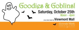 Goodies and Goblins with Gertrude Hawk Chocolates and the Viewmont Mall