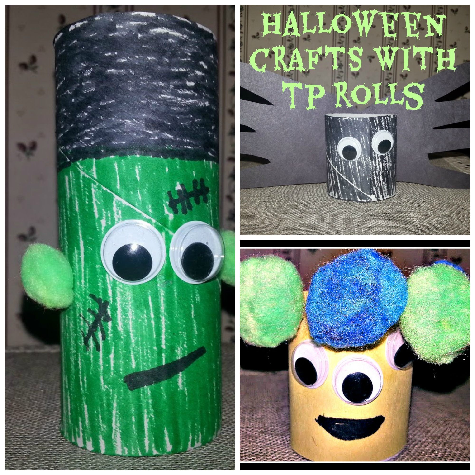 Fun Simple Halloween Crafts with TP Rolls