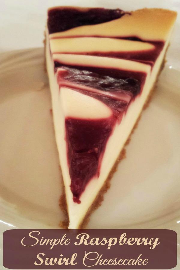 Simple-Raspberry-Swirl-Cheesecake