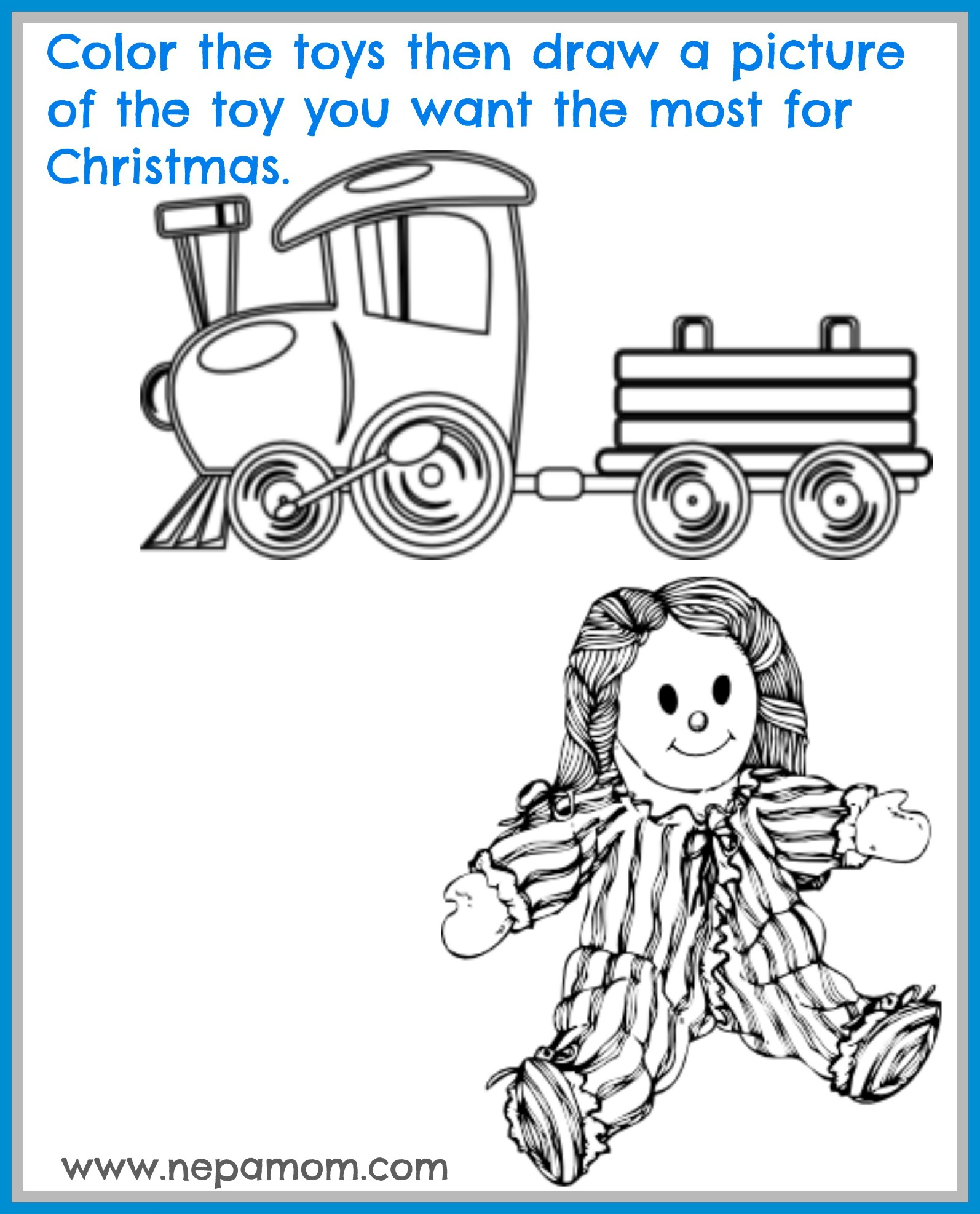 Toy Coloring Pages