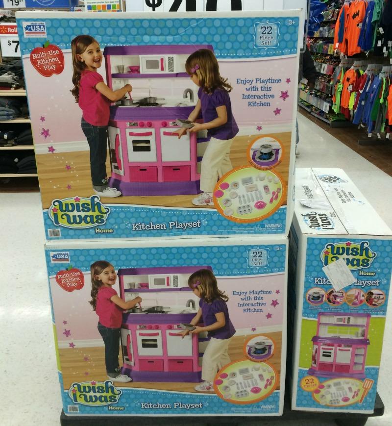 Kitchen set at Walmart #DropShopandOil #ad