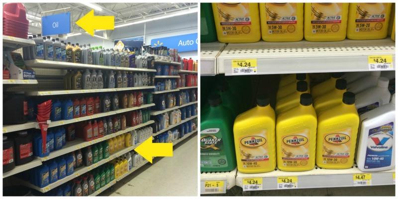 Oil aisle at Walmart #DropShopandOil #ad