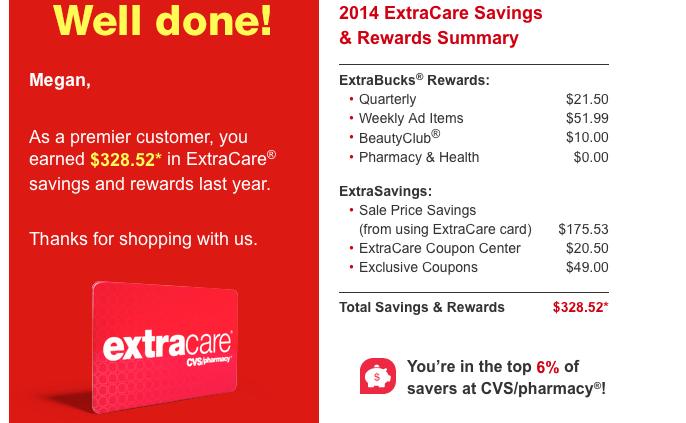 CVS Extra Care Bucks