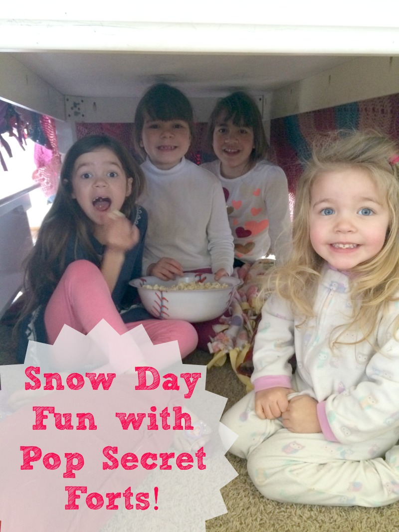 Snow Day Fun with Pop Secret Forts--Popcorn is a fun and tasty treat that makes any day a special day!  Now you can get a $1 off coupon for Pop Secret Popcorn!