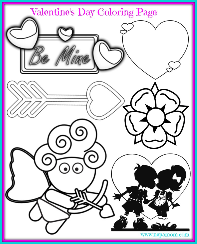 Printable Valentine's Day Coloring Sheet