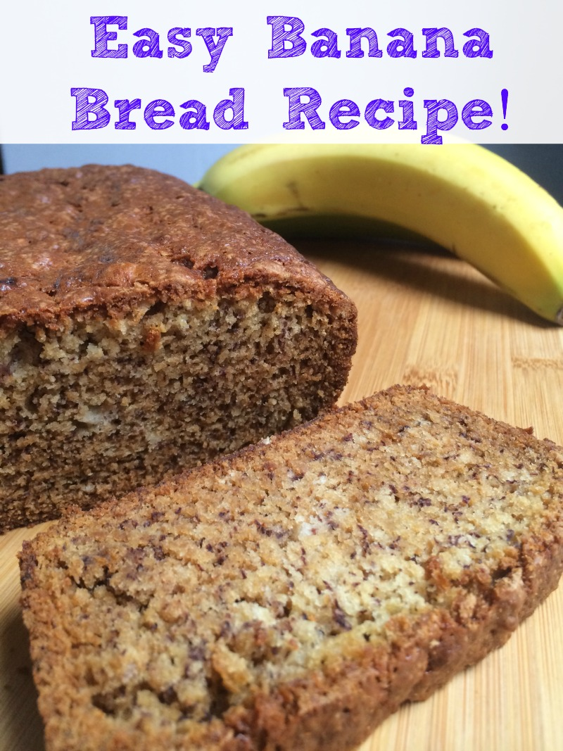 This Banana Bread from Scratch recipe has NO eggs and NO Nuts so it is great for those with allergies...plus it tastes GREAT!