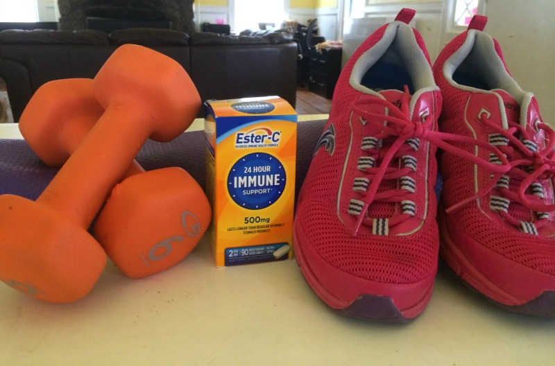 Ester C and exercise are all part of a healthy lifestyle that offers immune support when you need it most!  #24HourEsterC #ad
