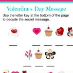 Valentine's Day Secret Message Worksheet