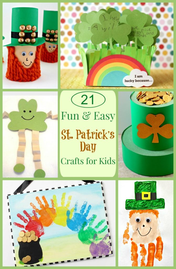 St Patrick's Day Kids Crafts--fun and colorful crafts for your kids!