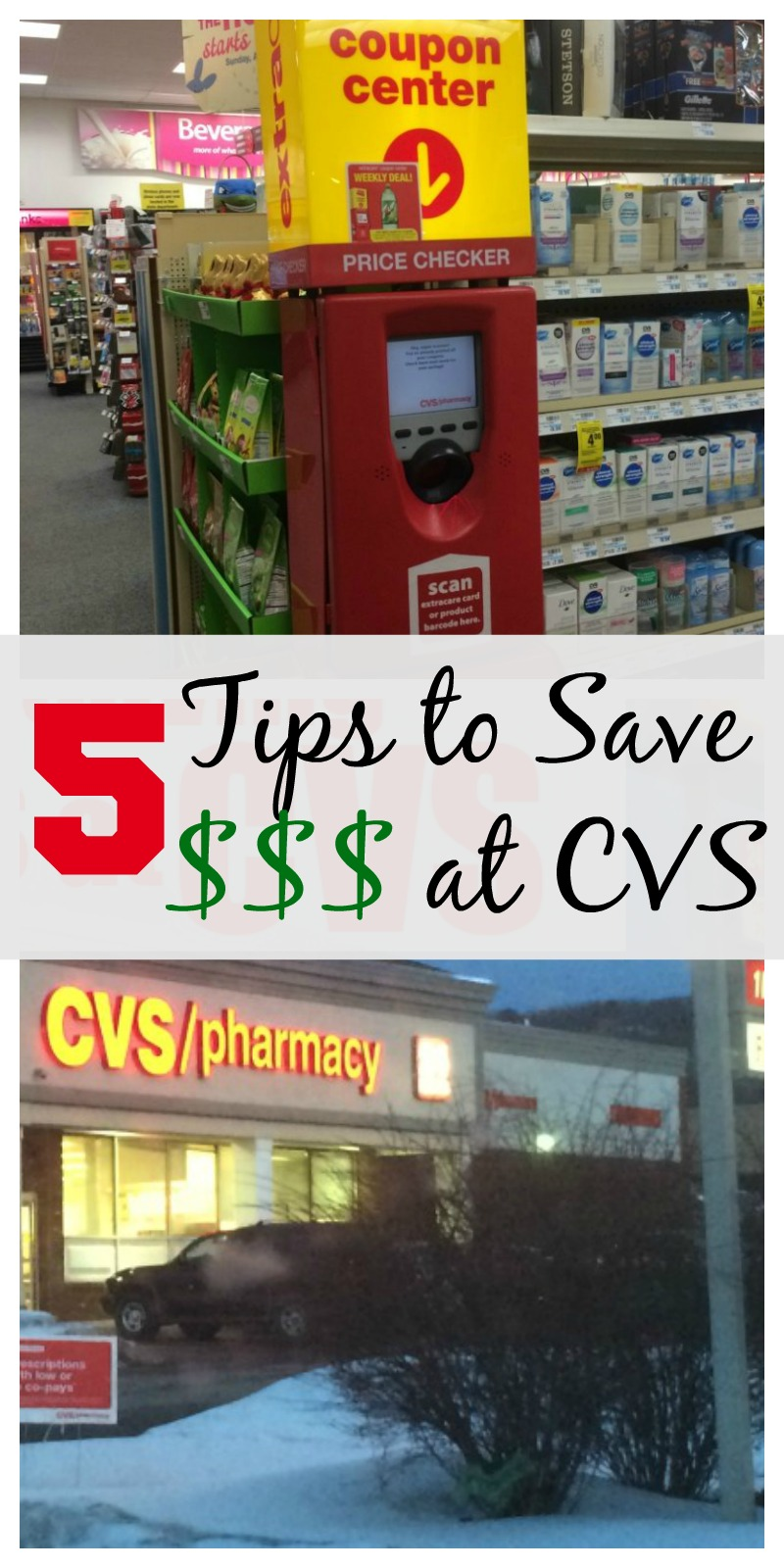 5 Tips to Save Money at CVS--this simple and easy tips can help you save lots of money on your next shopping trip!