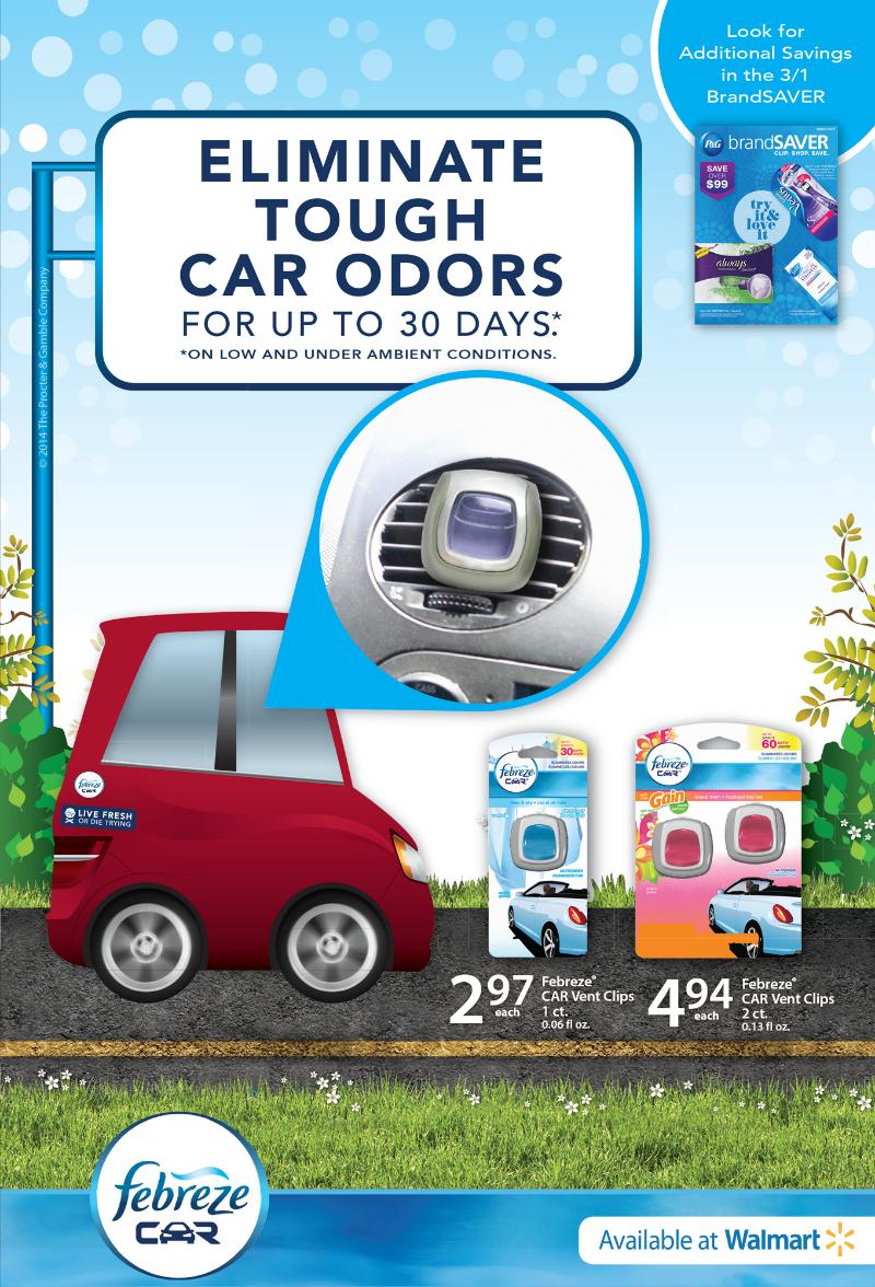 Banish your Bad Car Smells with Febreze Car Vent Clips! #FebrezeCar