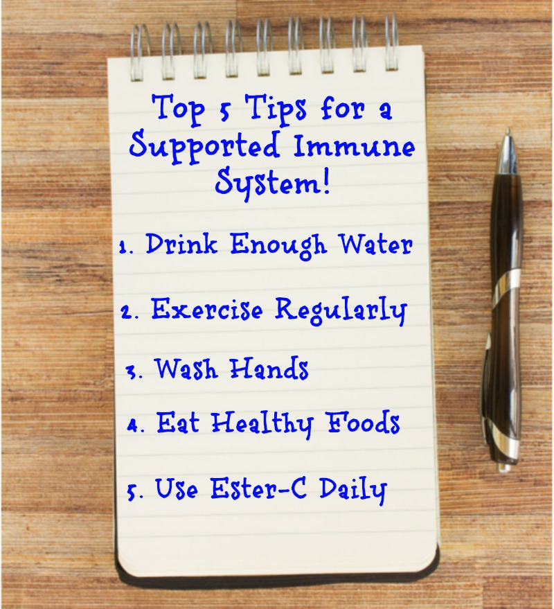 Here are my Top 5 tips for a Healthy Immune System all year long! #24HourEsterC #ad