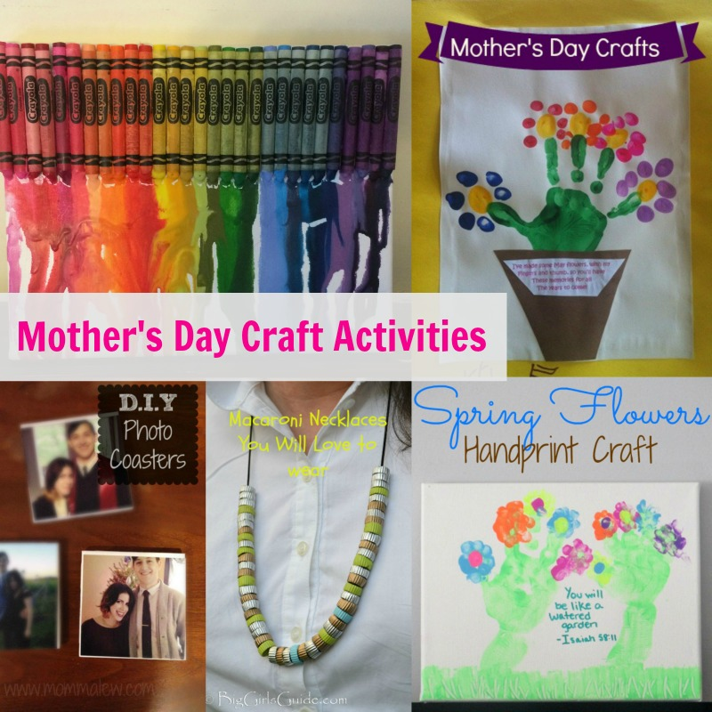 Mother's Day Craft Activities--there is still time to make mom or grandma a gift from the heart!