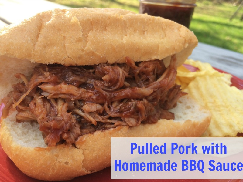 This Croc Pot Pulled Pork with Homemade BBQ Sauce is rich, creamy and tastes great! I love that we have a healthy, yummy dinner without having to spend the day in the kitchen!