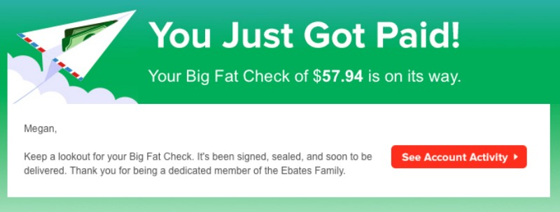 Saving Money with Ebates is the easy way to save money when shopping online!