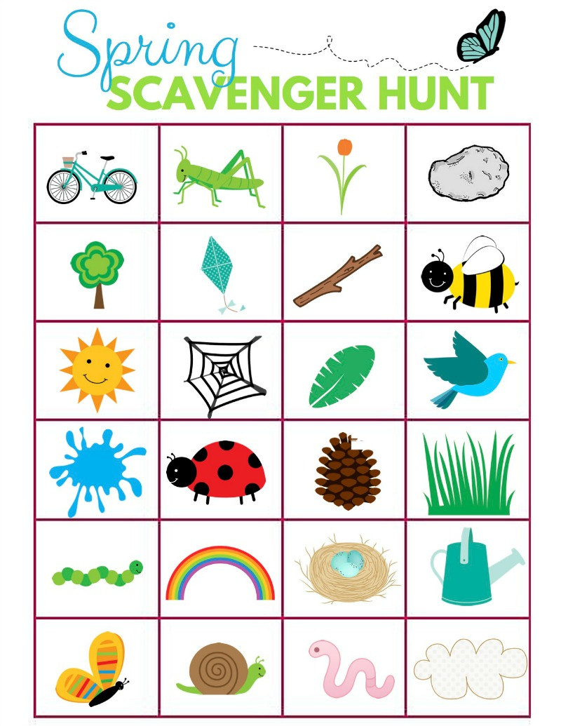 Here To Print The Scavenger Hunt Ideas For Kids