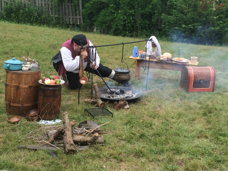 A historical encampment at the Tuckerton Seaport