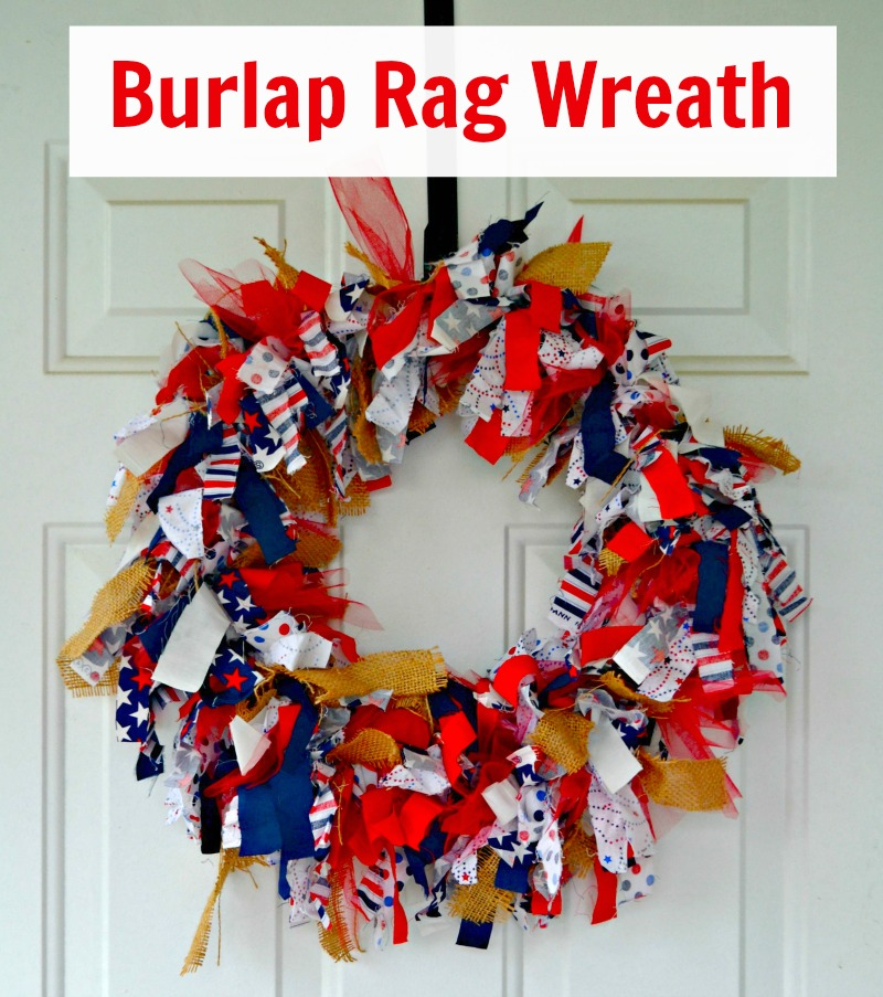 Burlap Rag Wreath --Fully customizable for any holiday or decor!