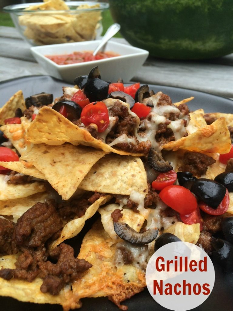 Grilled Nachos--these nachos taste great and are ready on your grill in no time!