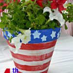 4th of July Flower Pot plus more Crafts and Recipes!