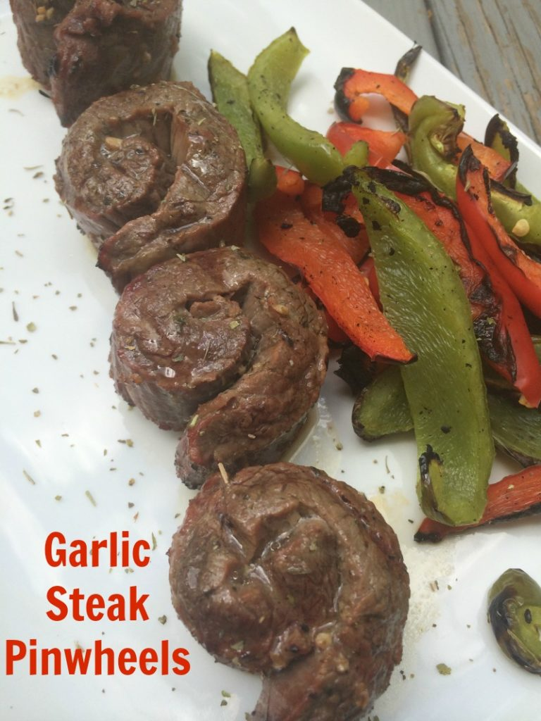Garlic Steak Pinwheels