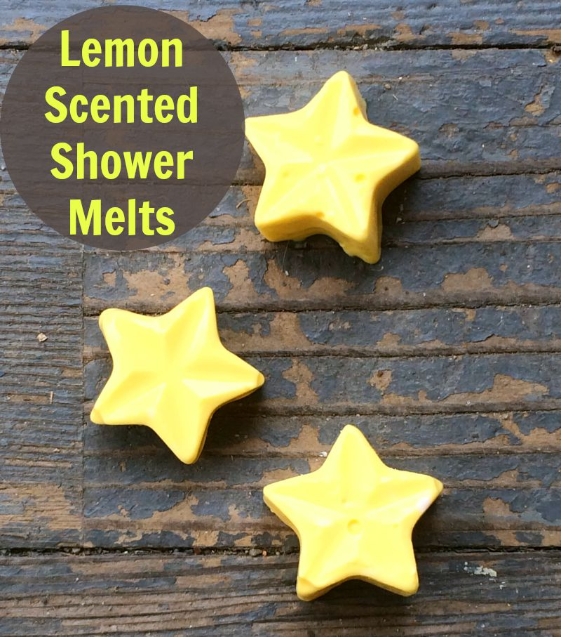 Lemon Scented Shower Melts--these smell great and are so easy to make!