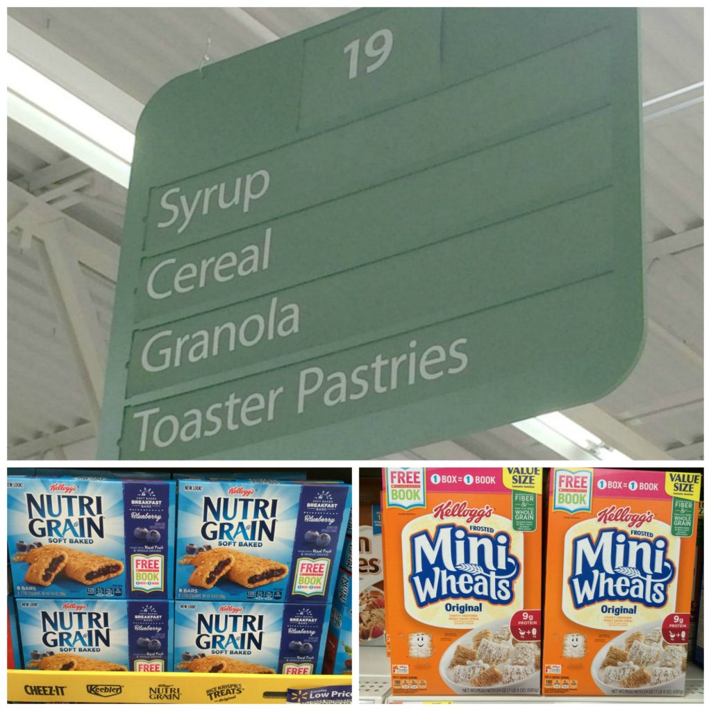 Cereal Aisle at Walmart #Back2SchoolReady #ad