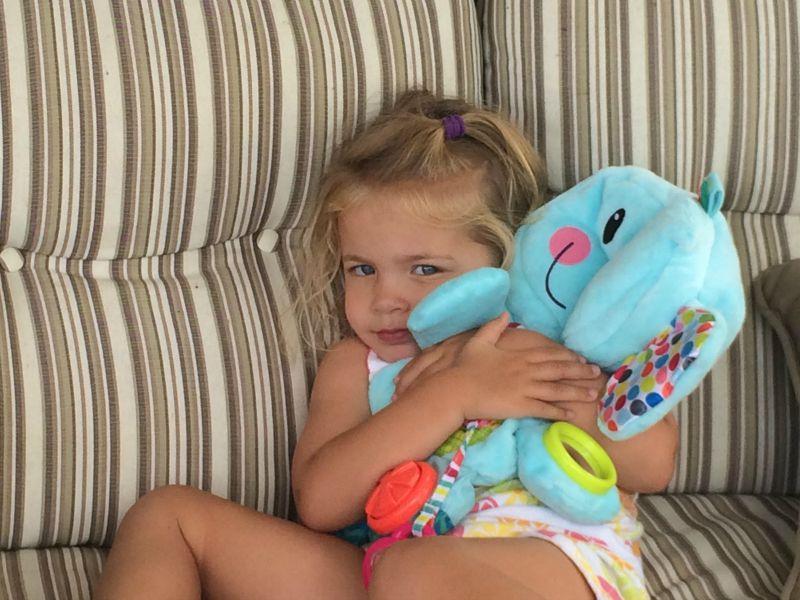 Hugging out Fold 'n Go Busy Elephant #PLAYSKOOLCREW