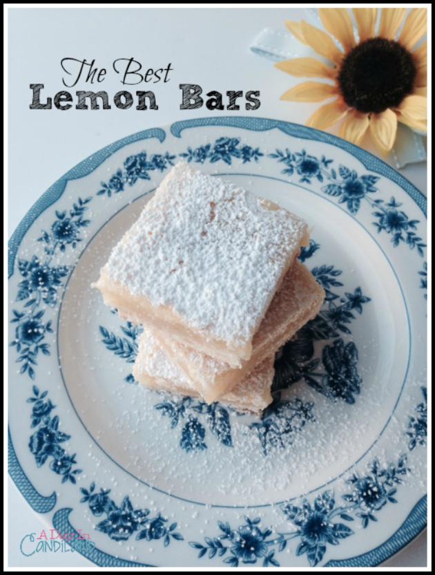 The-Best-Lemon-Bars-on-blue-and-white-plate