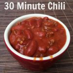 30 Minute Chili Recipe
