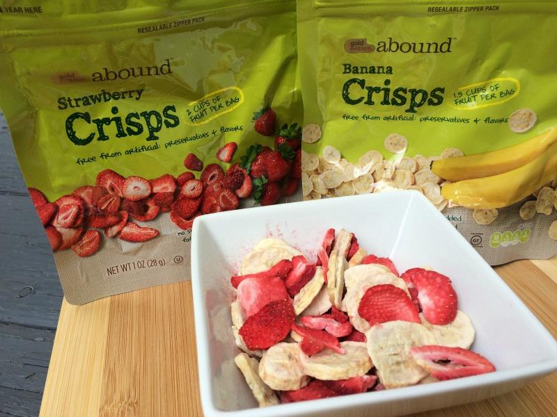 Strawberry and Banana Crisps from Gold Emblem Abound #CVSBacktoSchool #ad