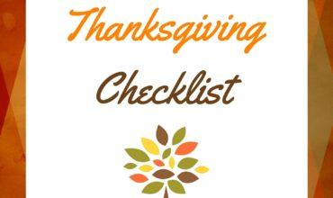 Thanksgiving Dinner Preparation Checklist